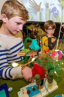 Kinderen maken maquettes van hun ideale woonwijk