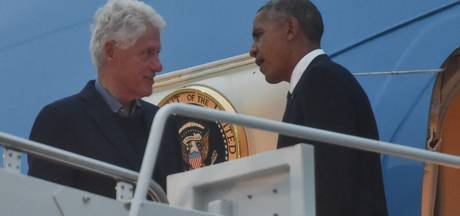 Barack Obama jaagt Bill Clinton Air Force One in