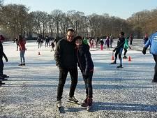 Honderden schaatsers op ijsbaan in Laag-Soeren
