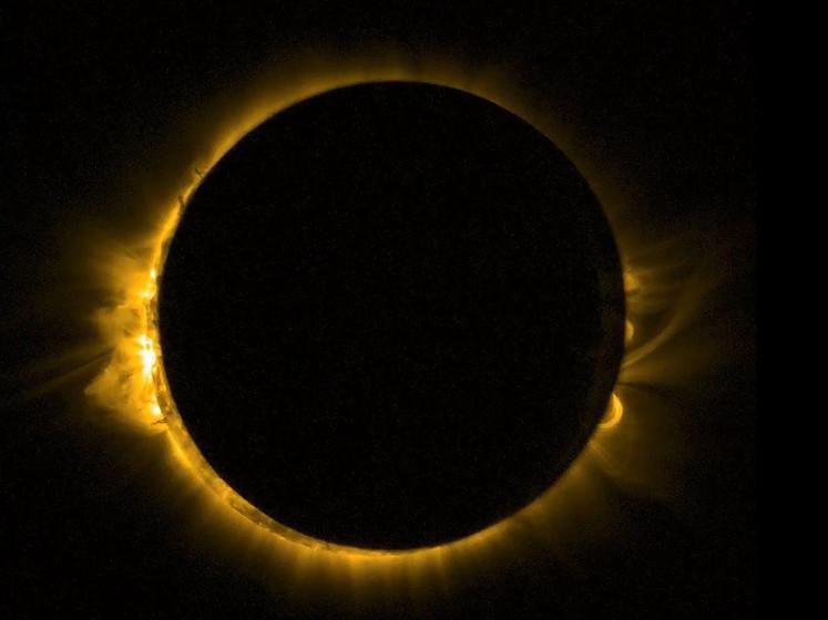 Zeldzame eclips vult Afrikaanse lucht met ring van vuur
