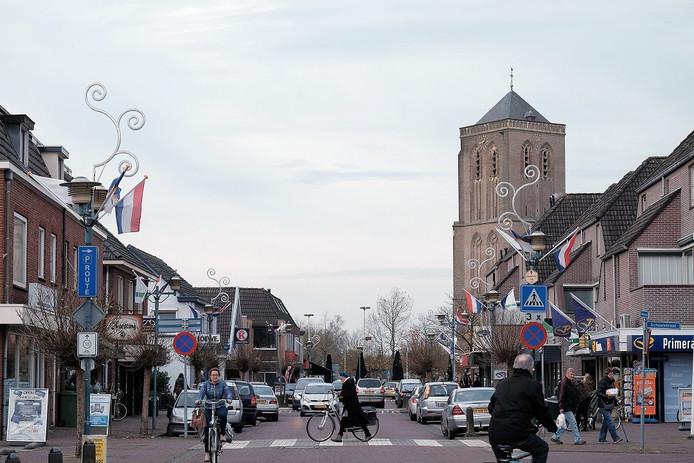 Het winkelgebied van Didam.