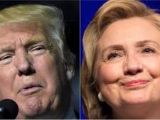 Clinton en Trump nek-aan-nek op vooravond groot debat