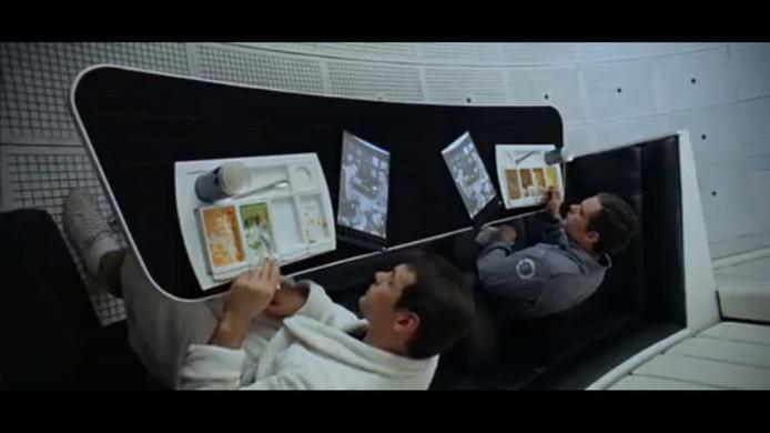 Beeld uit de film 2001: A Space Odyssey (via YouTube)