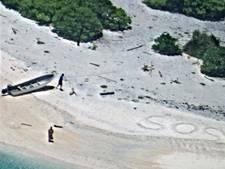 Stel gered na enorm SOS-teken op strand Micronesië