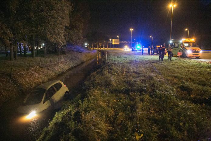 De A15 bij Andelst.