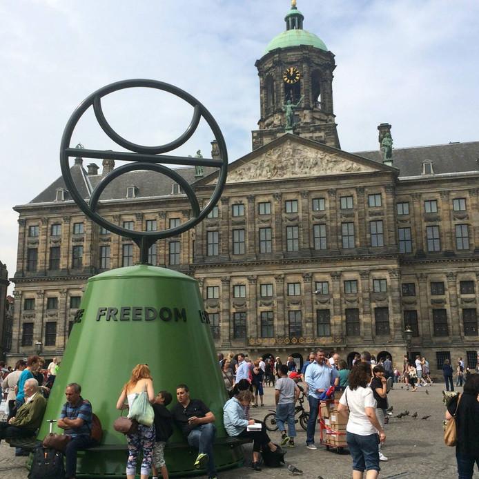 Het vrijheidssymbool op de Dam in Amsterdam.
