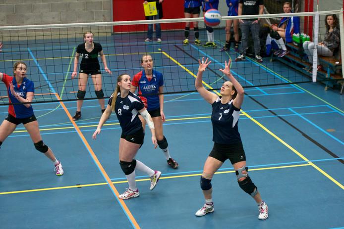 Archieffoto volleybalsters van Renswouw