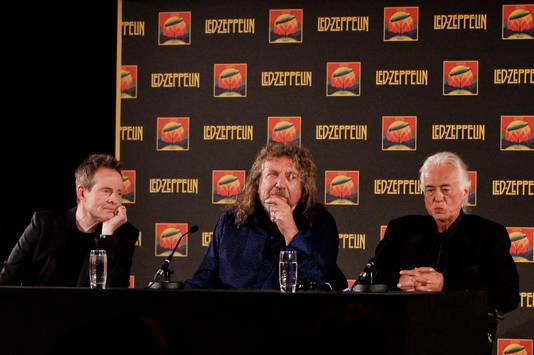 John Paul Jones, Robert Plant en Jimmy Page.