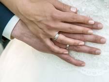 Minder huwelijken gestrand in 2015
