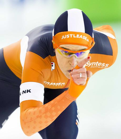 Wüst na 1000 meter op weg naar eerste titel NK sprint