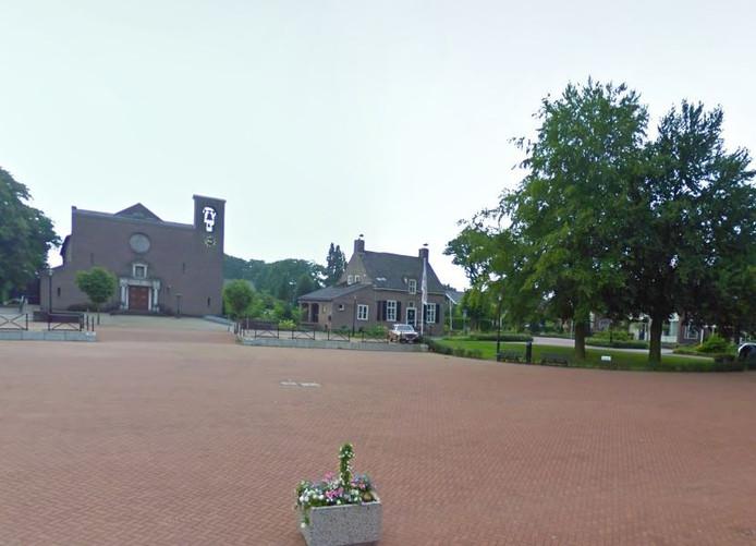 Het plein in Lievelde.