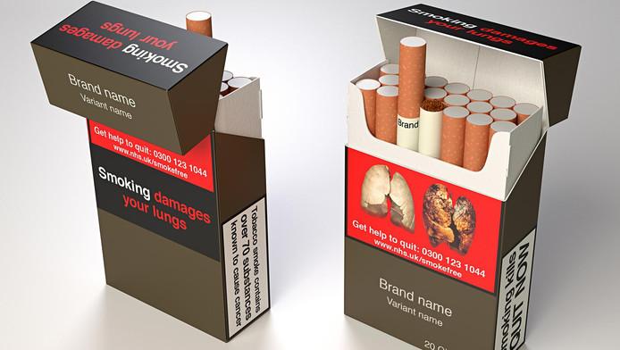 Zo zou een pakje sigaretten er in de toekomst uit kunnen zien