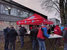 Strijden voor betere cao in Tilburg: luiken blijven gesloten voor actievoerende schilders