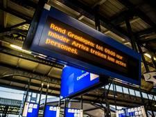 Tientallen treinen in Groningen uitgevallen door staking