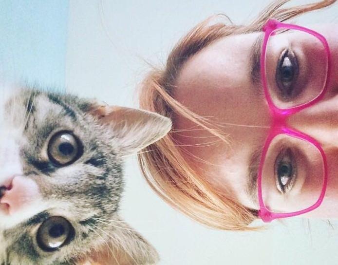 Anouk Dibbits en kat Tommie uit Nijmegen