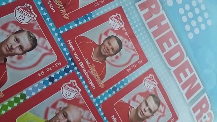 Niek van Binsbergen, in het voetbalplaatsjesalbum van Rheden in 2014.