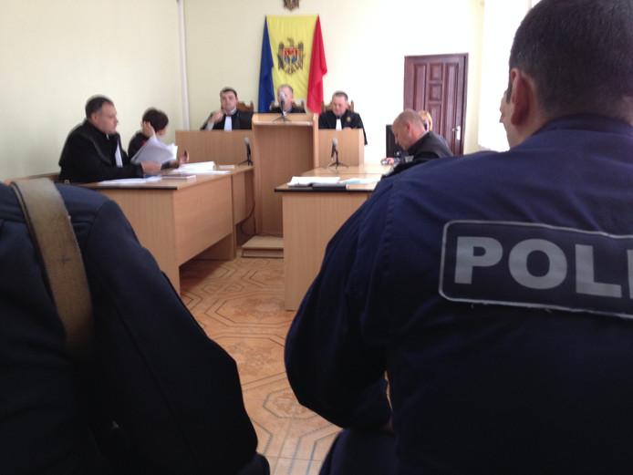 De zitting van de zaak in Moldavië.