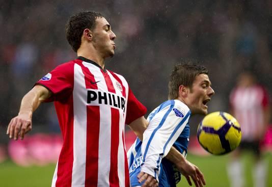 Nordin Amrabat (l) als speler van PSV.
