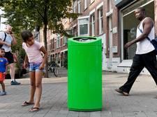 Opvallende groene bak haalt meer afval op dan grijze bak