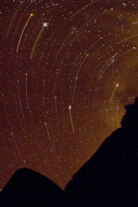 Eind van de week vallende sterren te zien