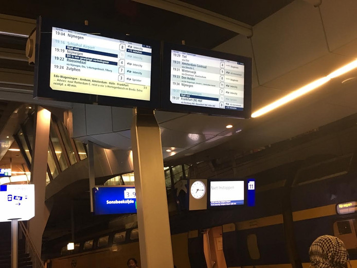 Vertraging op station Arnhem.