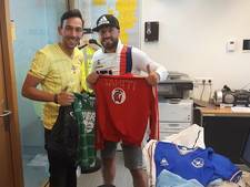 Verloren tas met unieke voetbalshirts van Denekamper is terecht