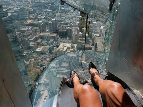 Durf jij? Glazen glijbaan geeft uitzicht op Los Angeles