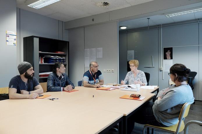 Een voorlichtingsbijeenkomst van Vluchtelingenwerk in Doetinchem.