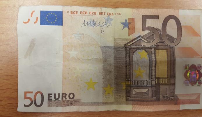 Het valse briefje van 50 euro