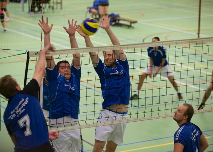 De volleyballers van Wevoc wonnen van Nuovo. Archieffoto