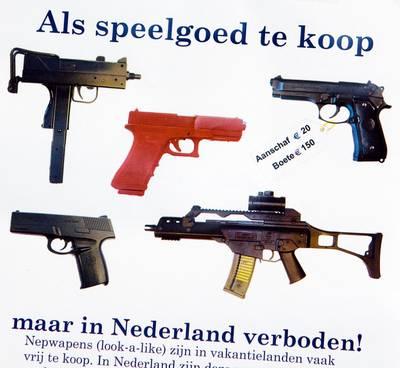 'Politie start campagne tegen gebruik nepwapens'