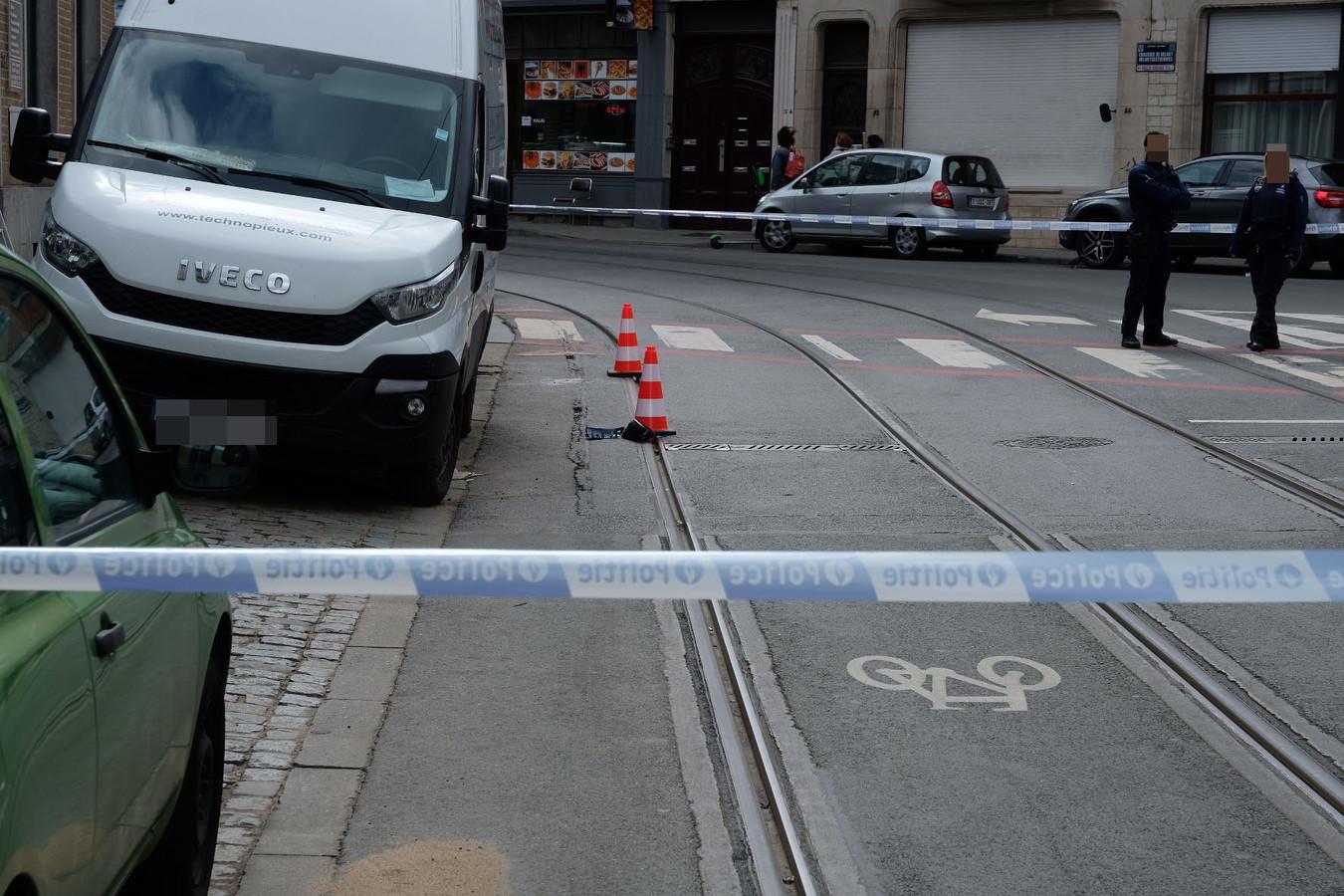 Un périmètre de sécurité a été dressé autour des lieux de l'accident