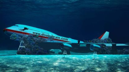 Bahrein laat Boeing 747 naar zeebodem zakken om duikpark voor toeristen te realiseren