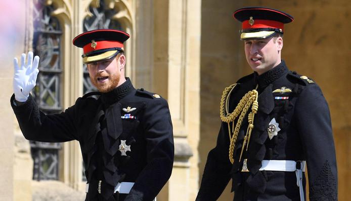 Les deux frères réunis lors du mariage de Harry et Meghan Markle.