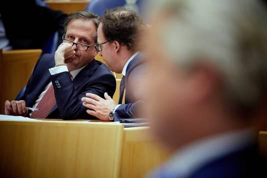 Alexander Pechtold (L) en Wouter Koolmees (D66).