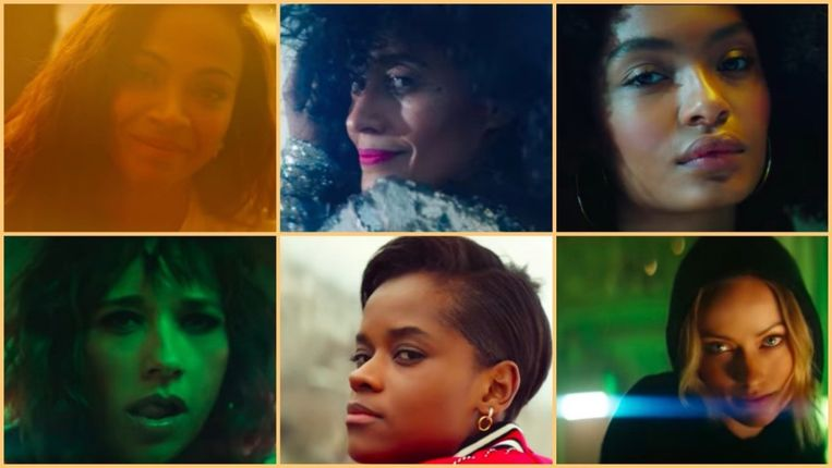 Issa Rae, Tracee Ellis Ross, Yara Shahidi, Rashida Jones, Letitia Wright en Olivia Wilde
