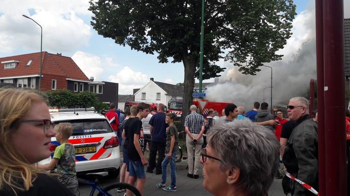 Veel belangstelling voor de brand in Berghem.