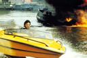 Een scene uit de film Amsterdamned