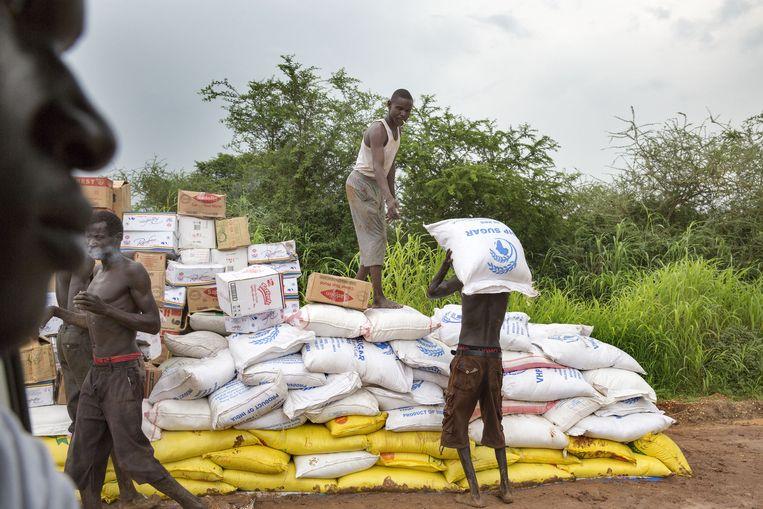Voedselhulp voor vluchtelingen in Zuid-Soedan. Beeld ANP