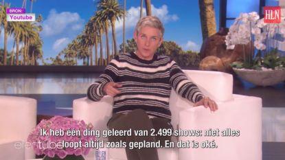 Ellen Degeneres viert 2.500ste show met bloopers