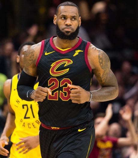 Hoofdrol voor James bij nipte zege Cleveland op Pacers