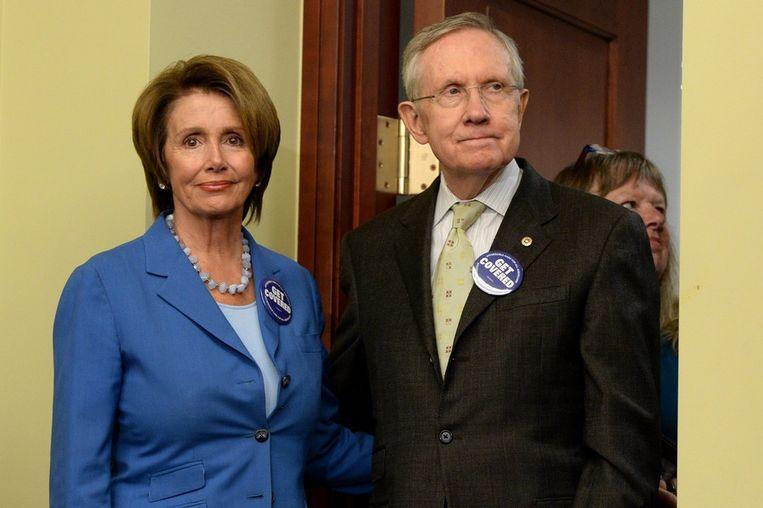 Nancy Pelosi en Harry Reid. Beeld afp