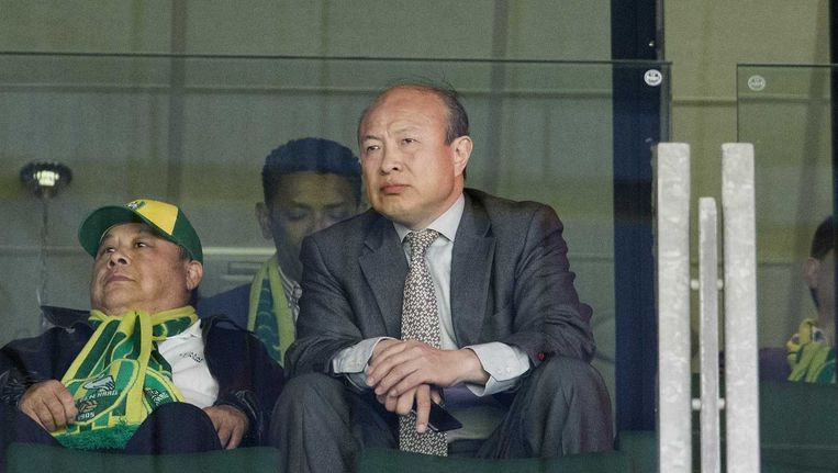 ADO-eigenaar Hui Wang bekeek de wedstrijd in het stadion Beeld anp