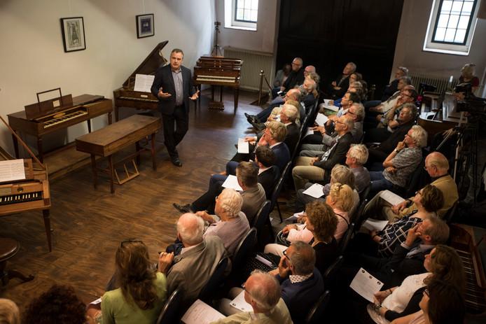 Het Geelvinck Museum, dat is gewijd aan zeer oude piano's en pianola's, tijdens de opening in Huis de Wildeman in 2017.