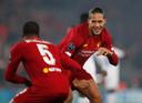 Georginio Wijnaldum en Virgil van Dijk hopen Liverpool de eerste wereldbeker voor clubteams te kunnen bezorgen.
