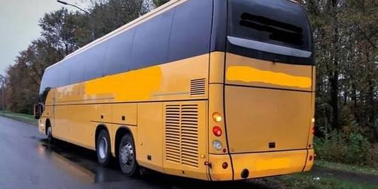 De bus waarmee de Moldaviërs arriveerden