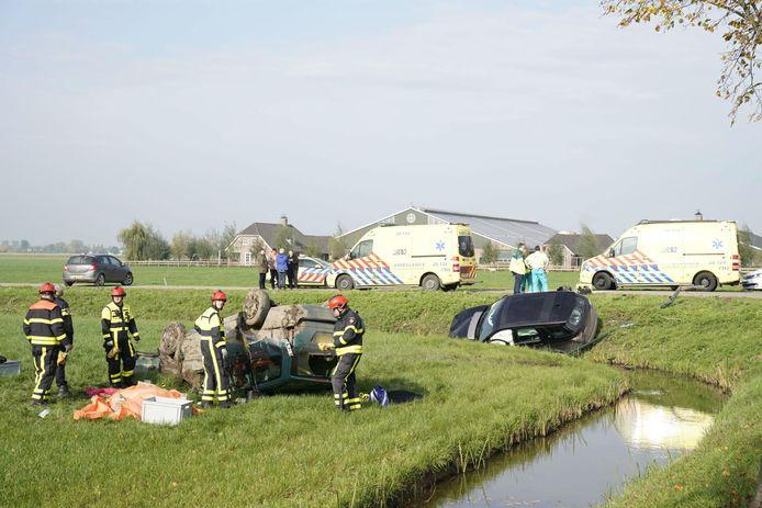 Het ongeval in Almkerk op 23 oktober 2019.