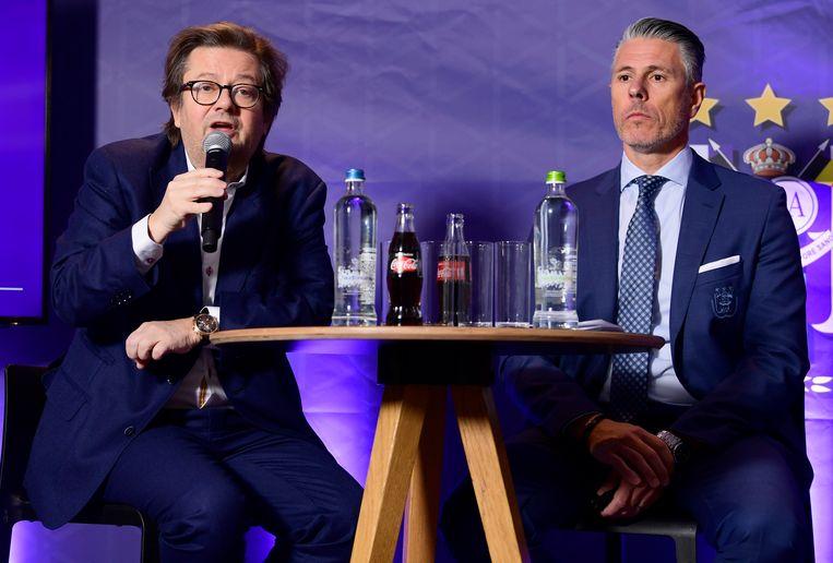 Marc Coucke naast Michael Verschueren.