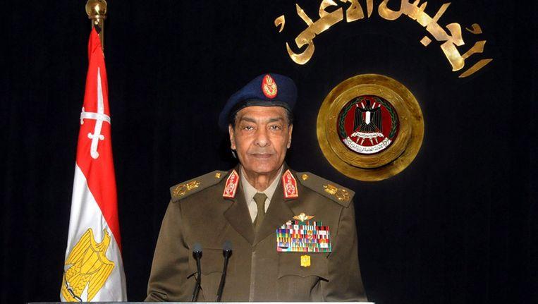 De Egyptische veldmaarschalk Tantawi Beeld EPA