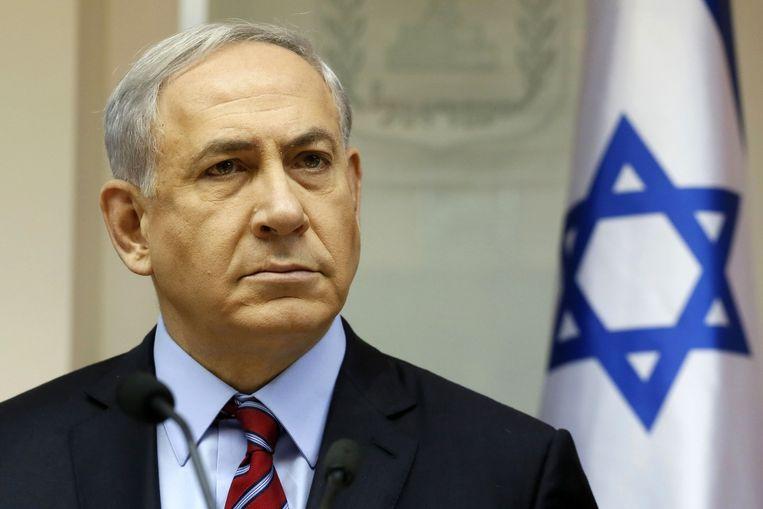 Israëlische premier Benjamin Netanyahu. Beeld ap